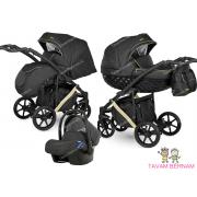 Camarelo Maggio 3-1 Mg-8 (melna / zelta) bērnu universālie rati